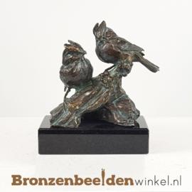 """Twee vogelbeeldjes """"De Kuifmeesjes"""" BBWR89056os"""