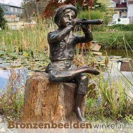 """Bronzen tuinbeeld """"Jan met fluit"""" BBWR891244"""