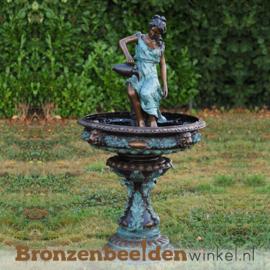 """Bronzen fontein """"Vrouw met kruik"""" BBW52290"""