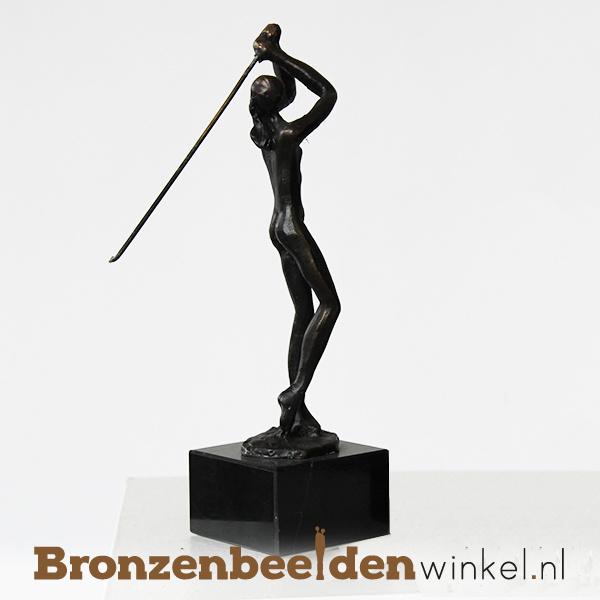 "Sportbeeldje ""De golfspeelster"" BBW004br51"