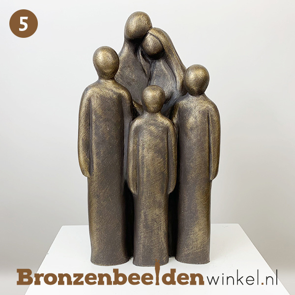 """NR 5   Cadeau vrouw 45 jaar  """"Vader en moeder met 3 grote kinderen"""" BBW064br03"""