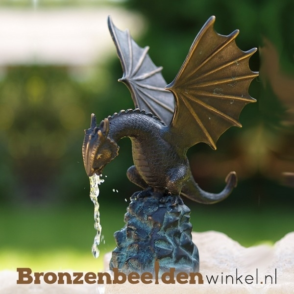 Spuitfiguur draak als fontein BBW1817br