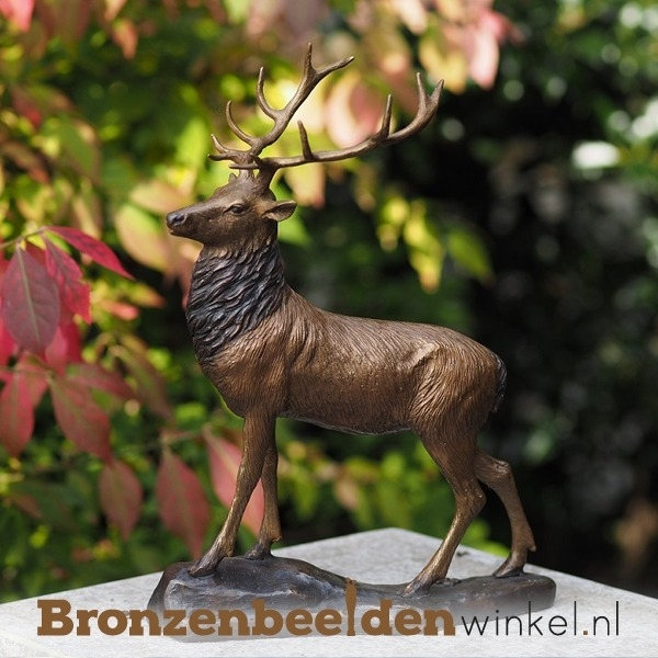 Bronzen hert beeldje BBW1185