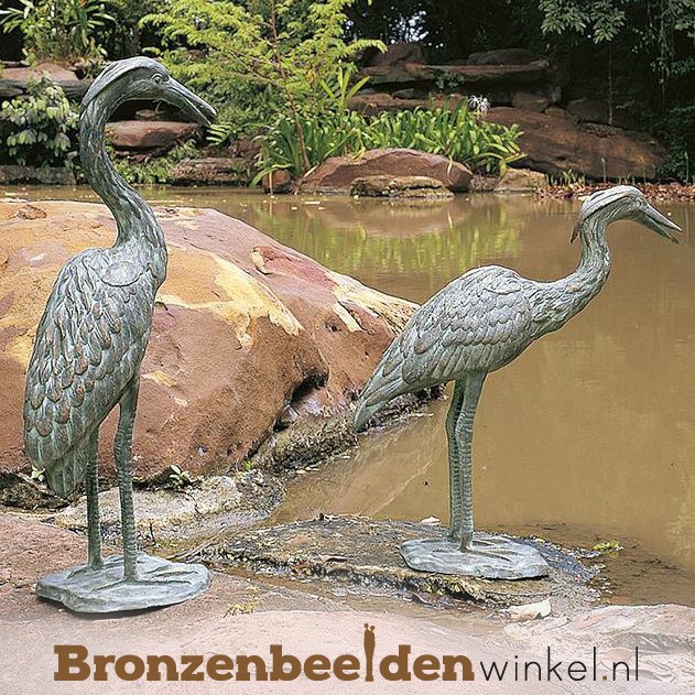 Reiger beelden van brons BBWR90111-12