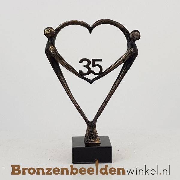 """TOP cadeau 35 jaar getrouwd """"Het Hart"""" met 35 BBW003br67"""