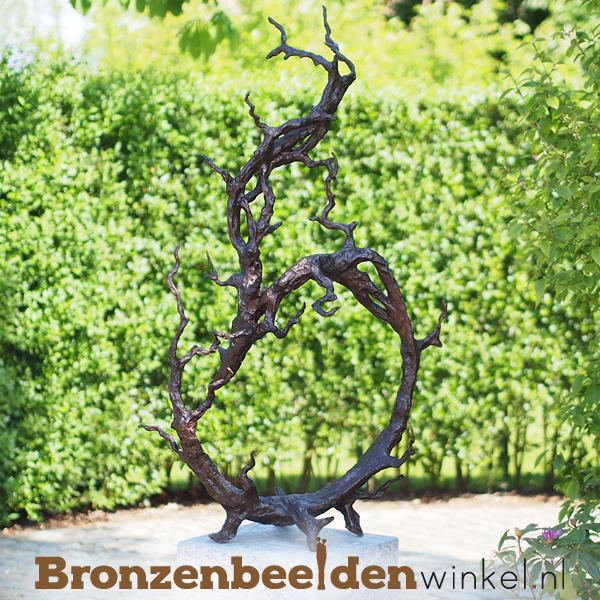 """Groot bronzen beeld """"Vertakking"""" BBW52231br"""