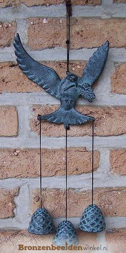 Windgong vogel met bellen BBWWC0044br