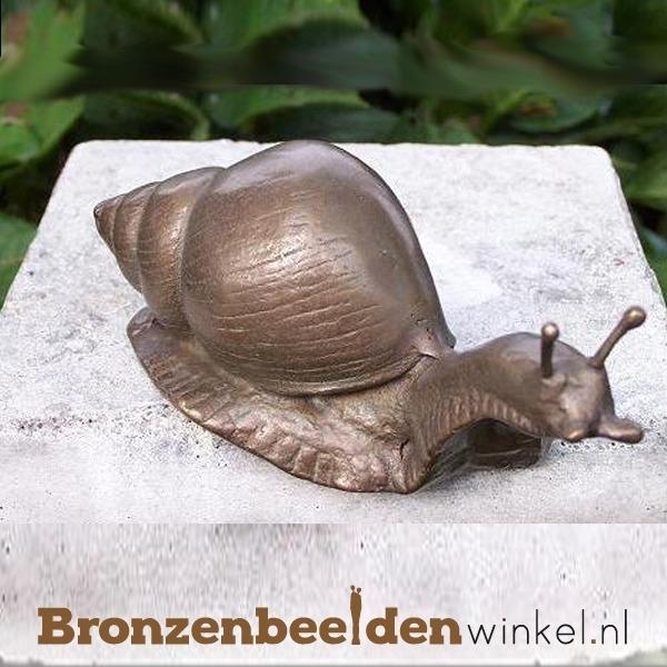Bronzen beeldje slak BBWAN1235BR