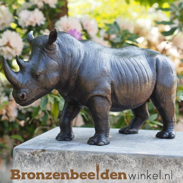 Bronzen neushoorn beeld BBW1352br