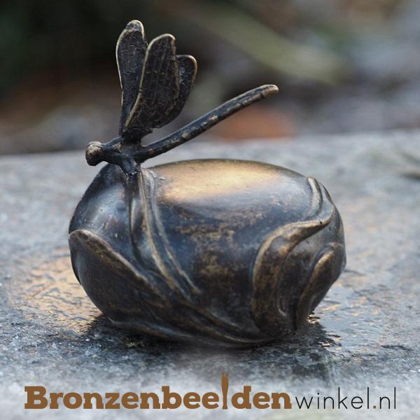 Bronzen asbeeldje met libelle BBW0363BR