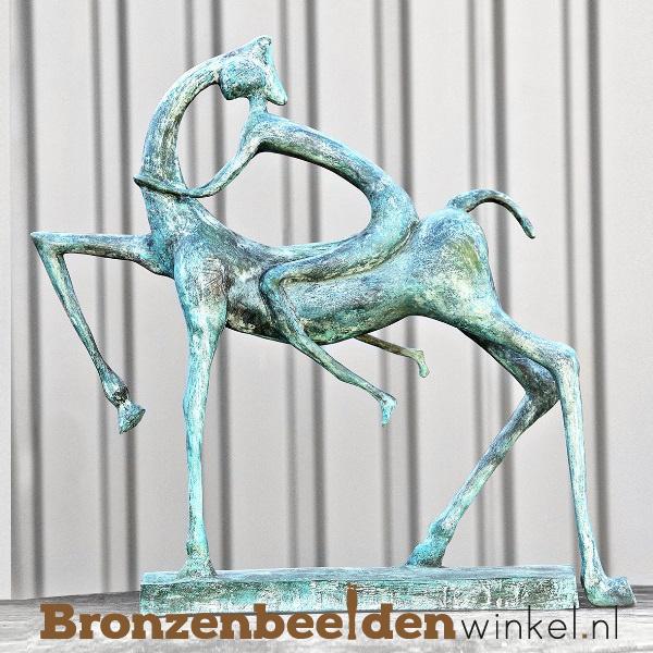 "Abstract tuinbeeld ""Man op Paard"" BBW60800"