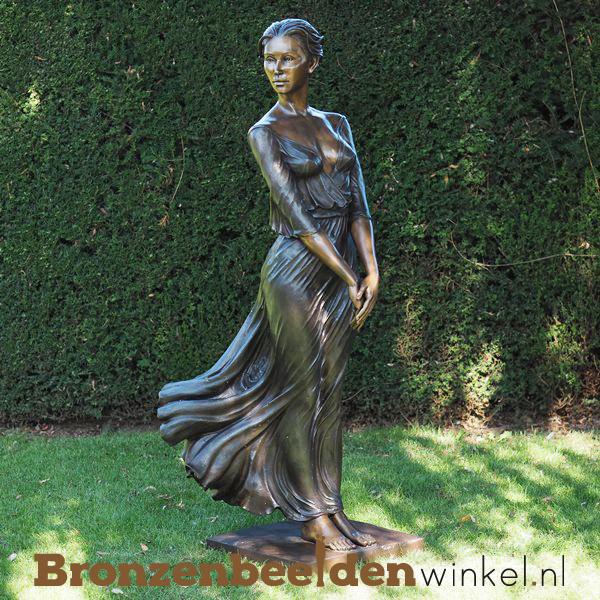 Bronzen mooie dame tuinbeeld BBW1353