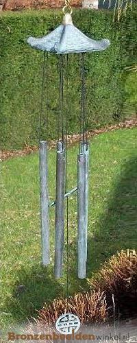 Windgong met chinees dakje BBWWC0072br