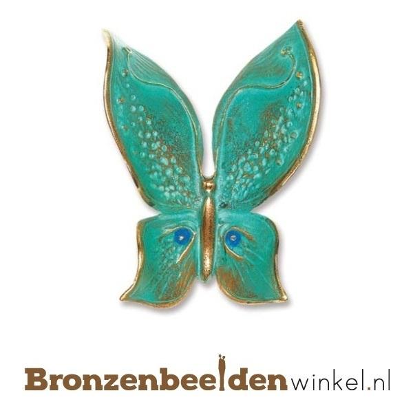 Bronzen vlinder beeldje BBW20366