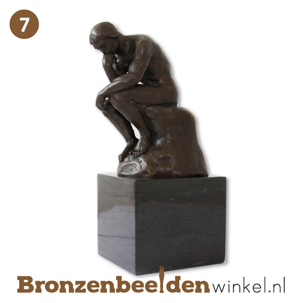 "NR 7 | Cadeau man 90 jaar ""De Denker op sokkel"" BBW001br54"
