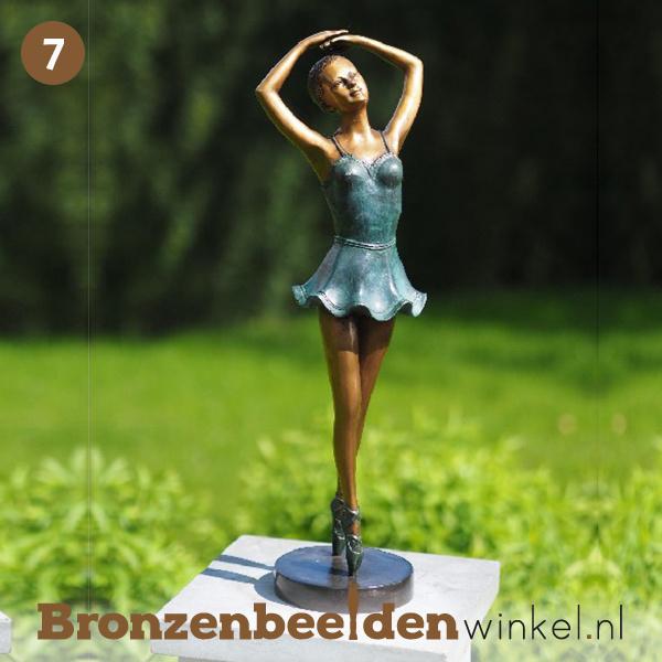 NR 7 | Cadeau vrouw 90 jaar Ballerina beeld brons BBW1263