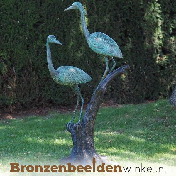 Tuinbeeld reigers van brons BBW1376