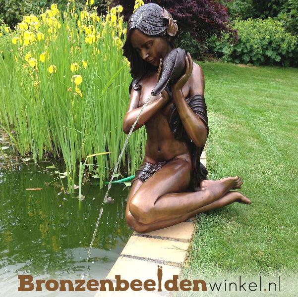 """Bronzen fontein """"Vrouw met kruik"""" BBW1108"""