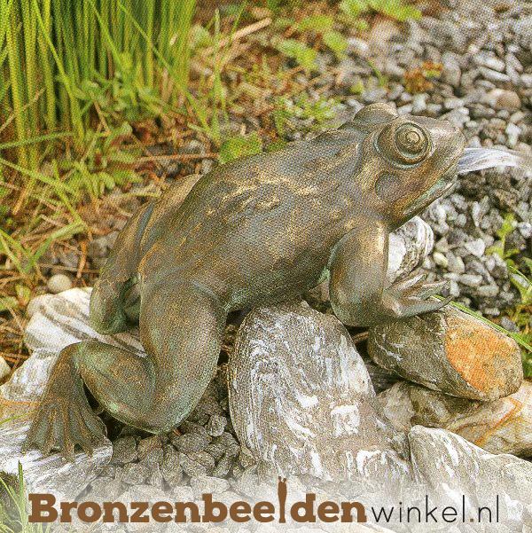 Kikker spuitfiguur brons BBWR90110