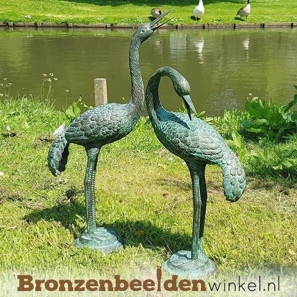 Kraanvogel beelden brons BBW1179
