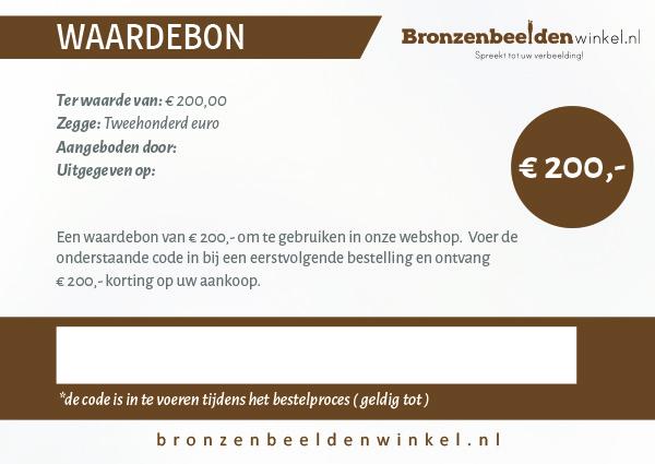 Cadeaubon t.w.v. €200,-