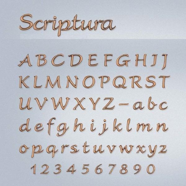 Bronzen letters Scriptura