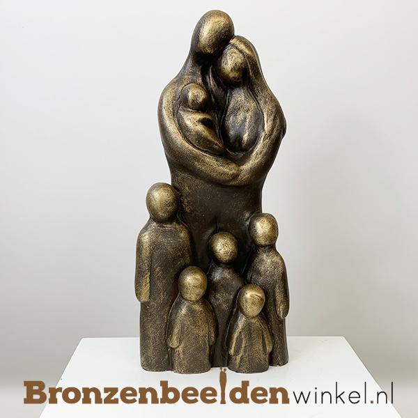 """Geboorte beeldje """"Uitgebreid gezin 8 personen"""" BBW071br66"""