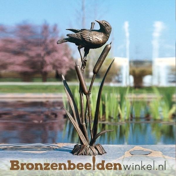 Bronzen vogel in het riet BBW88670