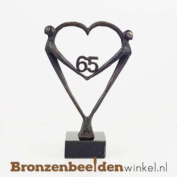 """TOP cadeau 65 jaar getrouwd """"Het Hart"""" met 65 BBW003br67"""