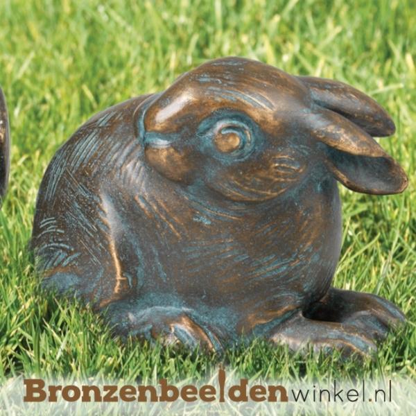 Bronzen beeld konijn BBW37182