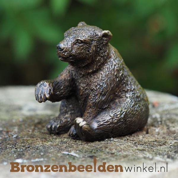Dierenbeeldje ijsbeertje van brons BBW1234