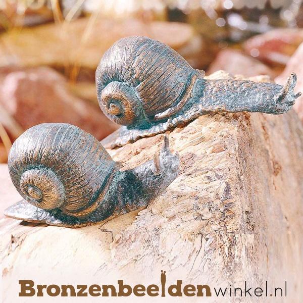 Slakken beelden brons BBWR88448/49