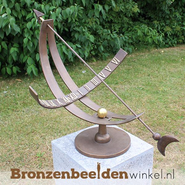 Equatoriale zonnewijzer brons BBW0386br