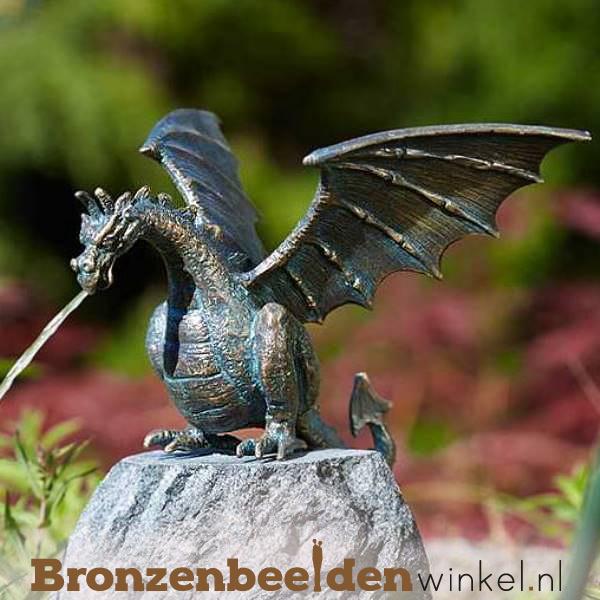 Spuitfiguur beeld draak brons BBWR90169