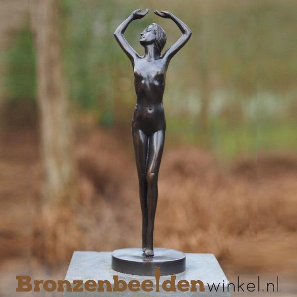 """Bronzen tuinbeeld """"Sierlijke Dame"""" BBW1282br"""