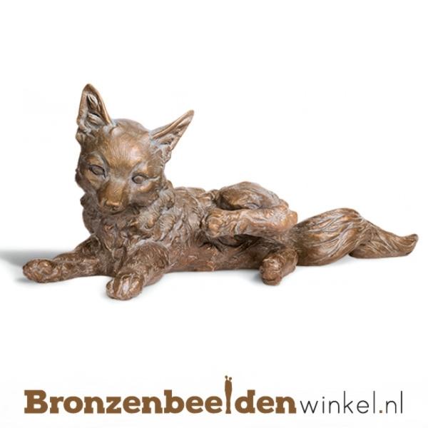 Bronzen vos beeld BBW37221