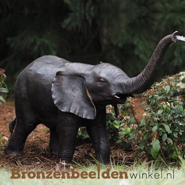 Bronzen fontein van een olifant BBW753