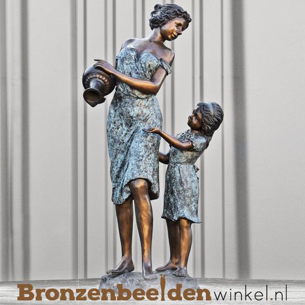 Beeld moeder en kind brons BBW51325br