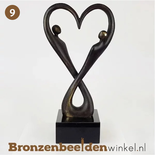 "NR 9 | Origineel cadeau bruiloft vrienden  ""Oneindige Liefde"" BBW007br18"
