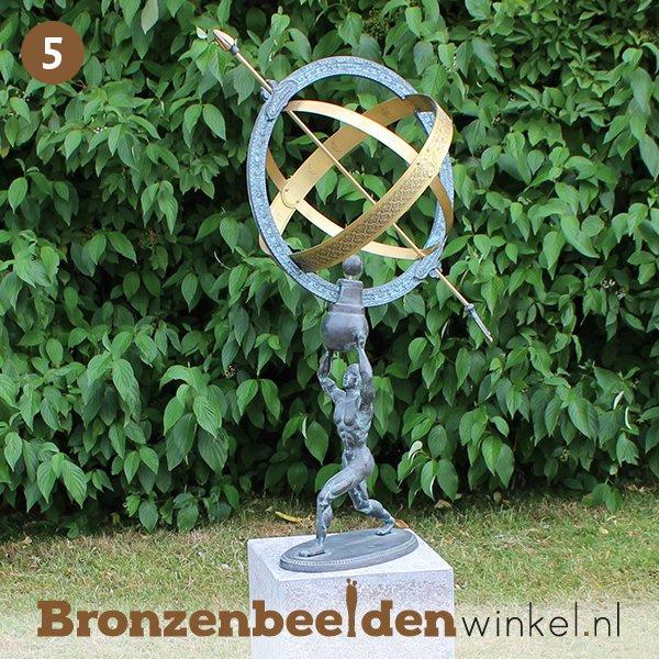NR  5 | Cadeau man 65 jaar ''Bronzen zonnewijzer / sculptuur'' BBW1165br