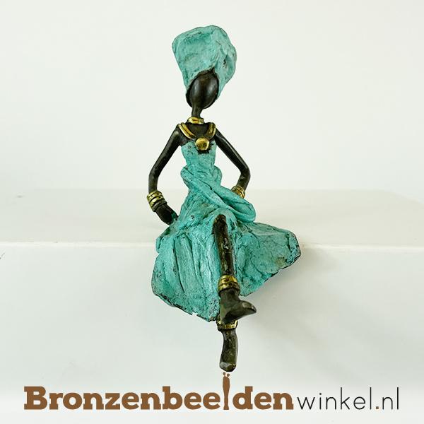 """Afrikaans beeld """"Winta"""" 16cm BBW009br30"""