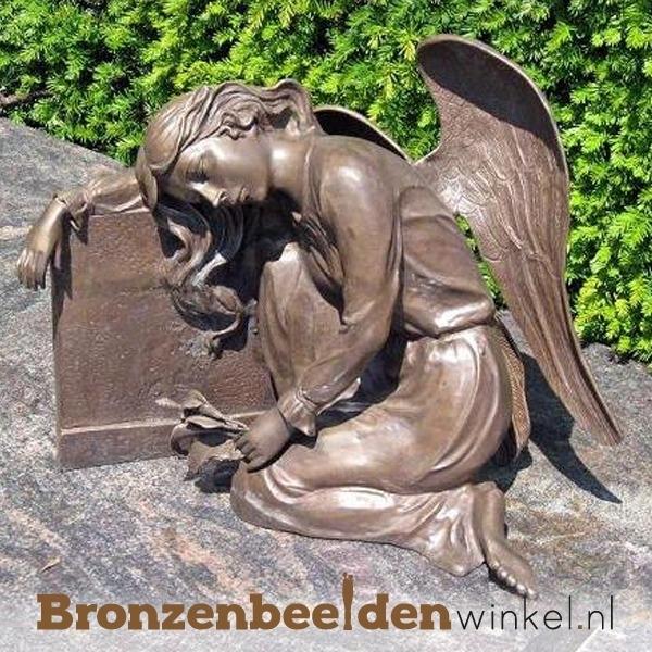 Bronzen Engelen Beelden.Grafsteen Engel Beeld Bbw1273br Engelen Beelden Bronzen Beelden