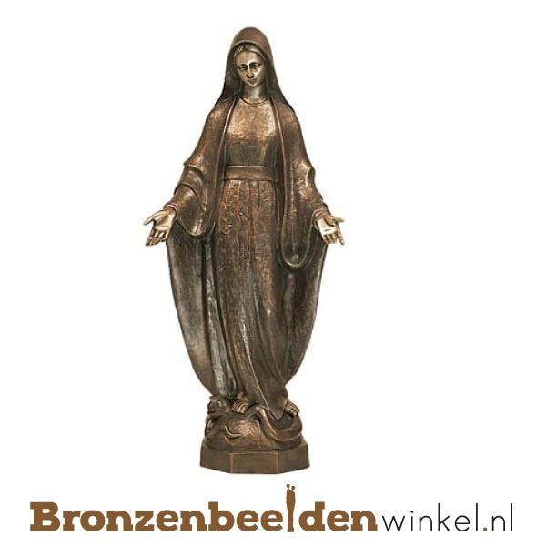 Bronzen Mariabeeld met zegende handen BBWP65010