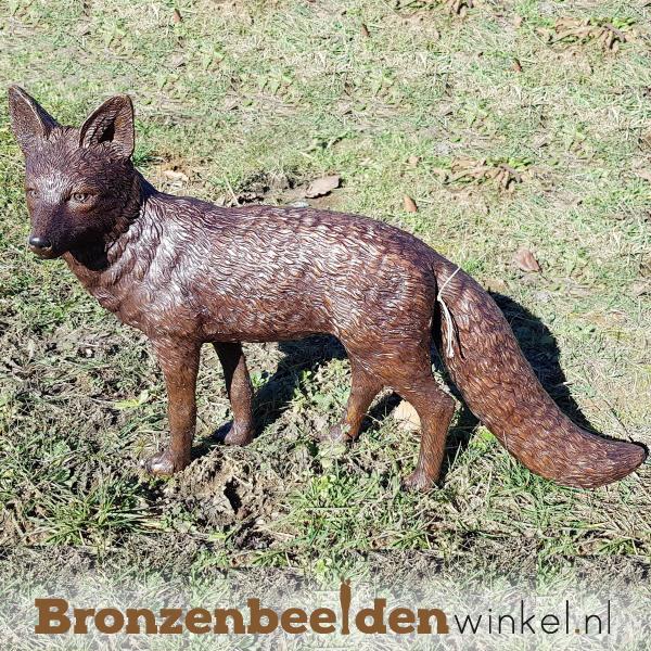 Tuinbeeld vos in brons BBW1330br