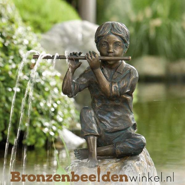 """Bronzen tuinbeeld """"Bart met fluit"""" BBWR88080"""