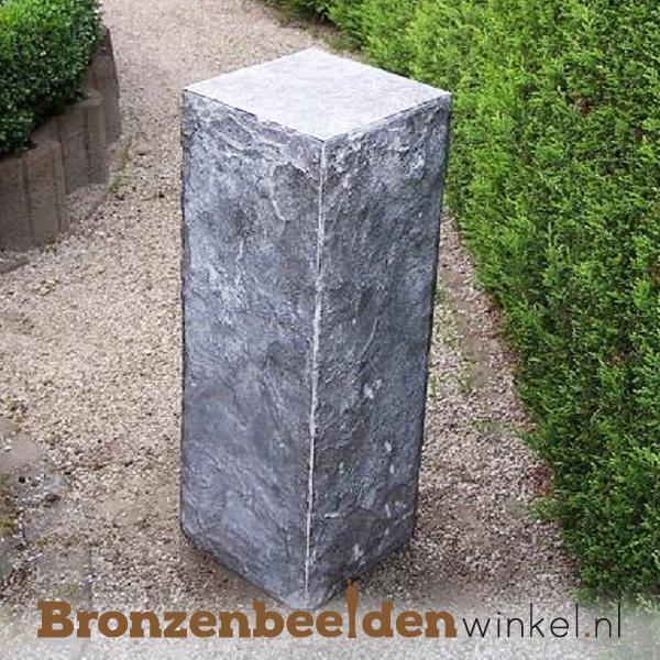 Hardsteen sokkel gekapt 85x30x30 cm