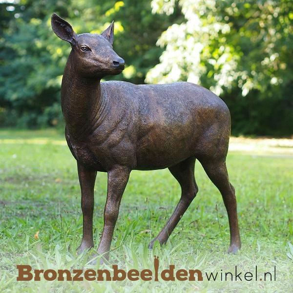 Bronzen beeld hinde hert BBW971-1