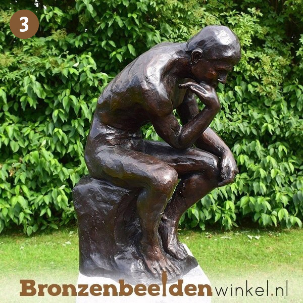 NR  3   Cadeau man 60 jaar ''De Denker van Rodin'' BBW55878