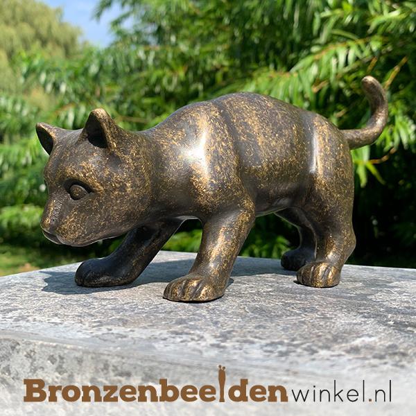 Kattenbeeldje van brons BBW0017br
