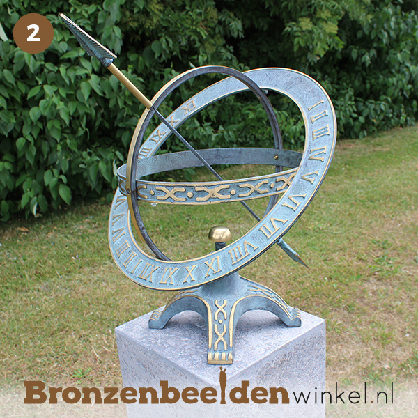 NR 2   75 jaar verjaardagscadeau ''Zonnewijzer met extra ring'' BBW0184br